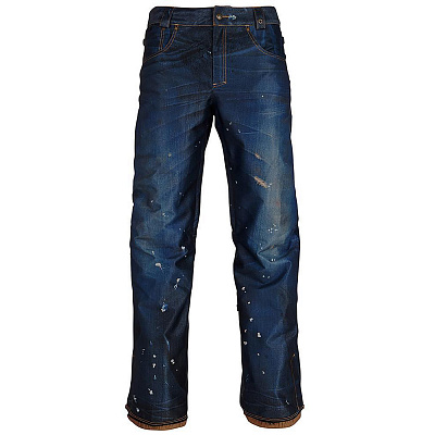 БРЮКИ 686 AUTHENTIC 10k/10k Deconstructed Denim Insulated 2019